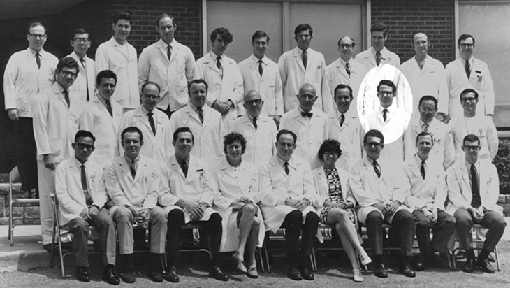 Group photo of George Zacharopoulos and colleagues at Montefiore Medical Center