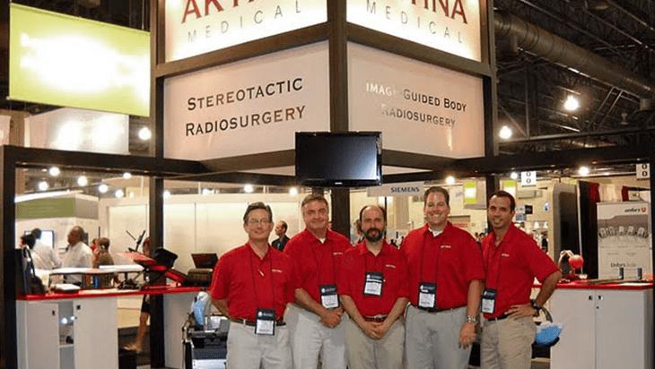 Staff at Aktina Medical booth at trade show