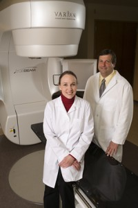 drs. zimmerman and shevach with truebeam 300
