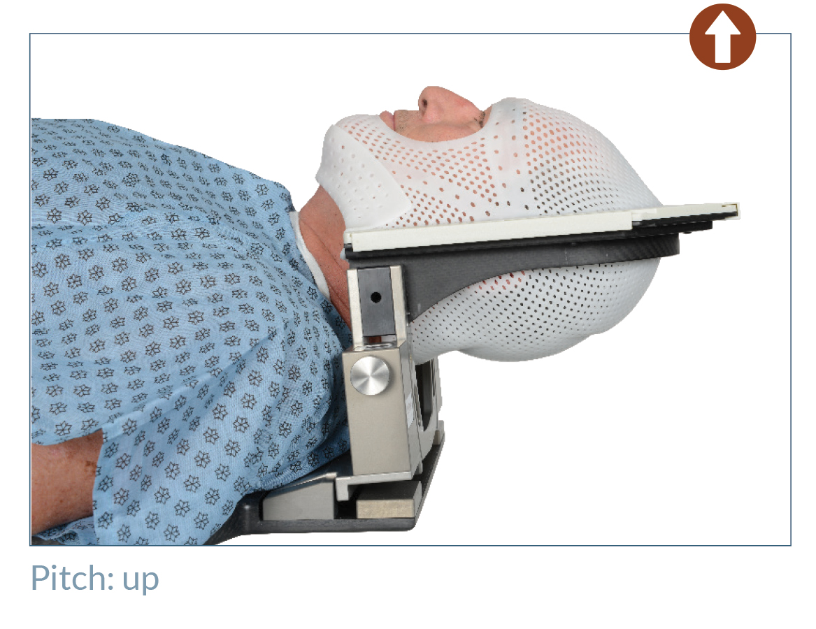 patient in positionPRO head support, pitched up