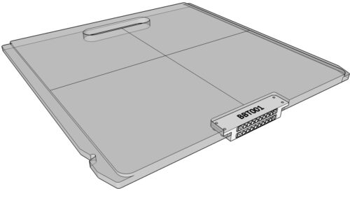 Solid Siemens Beam Block Tray
