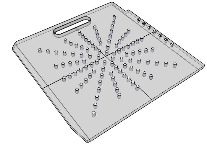 Star-Pattern Elekta Beam Block Tray